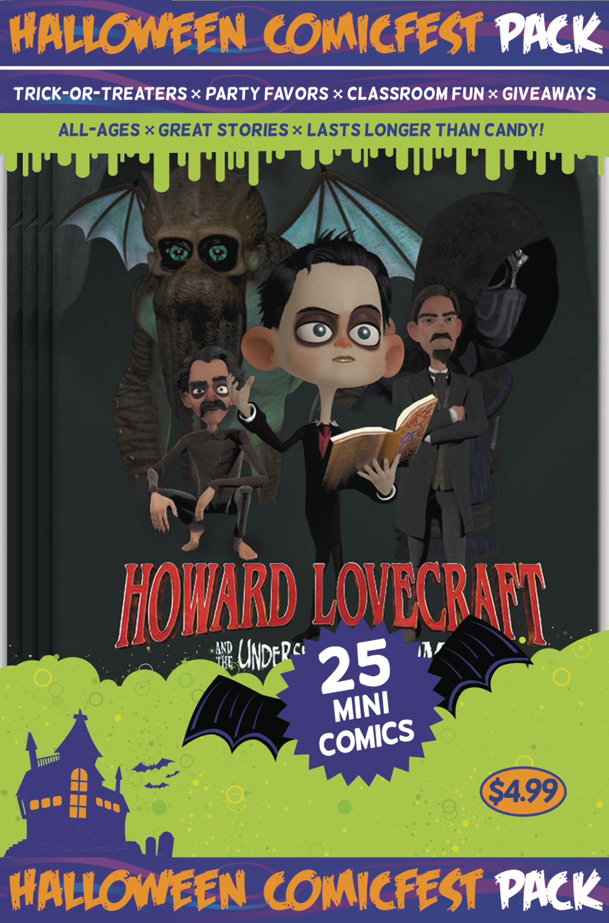 HCF 2017 LOVECRAFT UNDERSEA KINGDOM MINI COMIC POLYPACK (NET