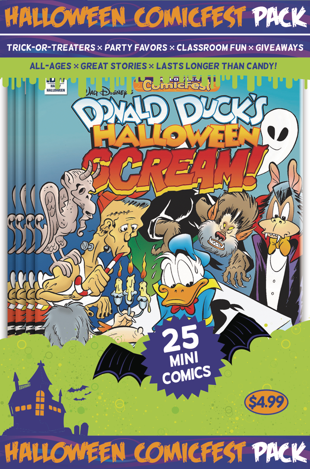 HCF 2017 DONALD DUCK HALLOWEEN SCREAM #2 MINI COMIC POLYPACK