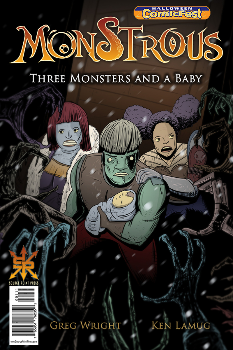HCF 2018 MONSTROUS THREE MONSTERS AND A BABY ONESHOT