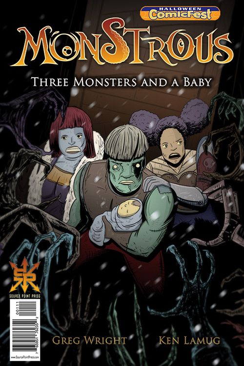 Halloween ComicFest, HCF, Monstrous, Three Monsters and a Baby, Source Point Press